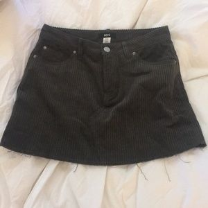 Urban Outfitters olive green corduroy mini skirt